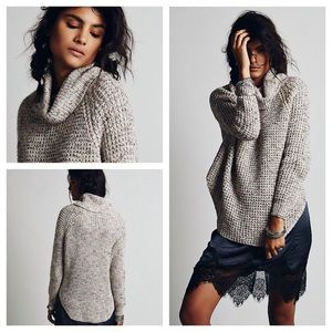 Free People Dylan Tweedy pullover sweater XS